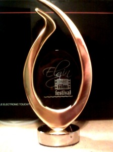 The Elgin Film Festival Trophy- Made by the same company that makes the Academy Awards.